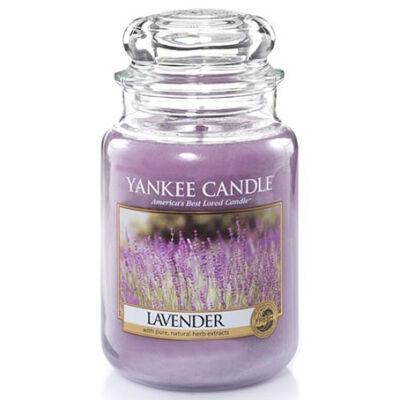 Lavender nagy üveggyertya