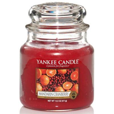Mandarin Cranberry közepes üveggyertya