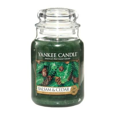 Balsam & Cedar nagy üveggyertya