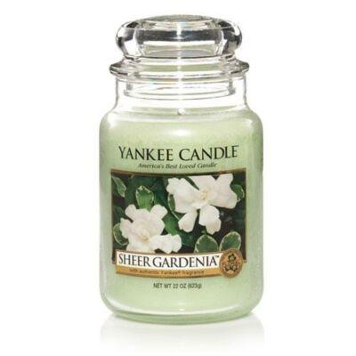 Sheer Gardenia nagy üveggyertya