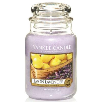 Lemon Lavender nagy üveggyertya