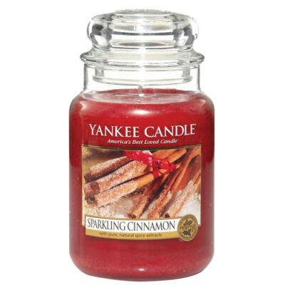 Sparkling Cinnamon nagy üveggyertya