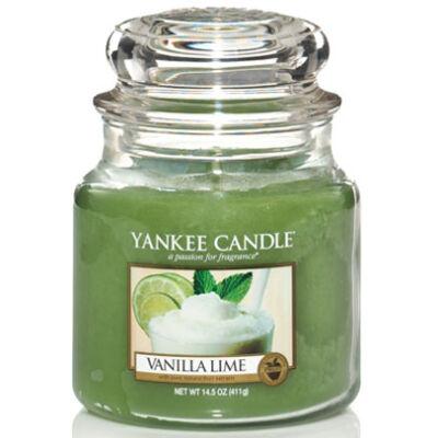 Vanilla Lime közepes üveggyertya