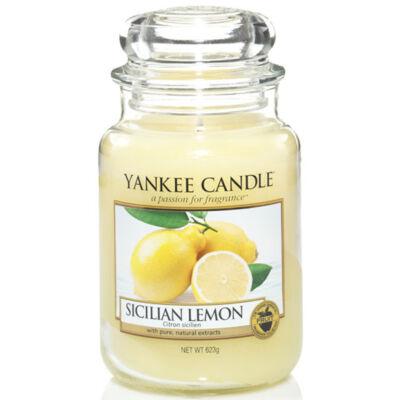 Sicilian Lemon nagy üveggyertya