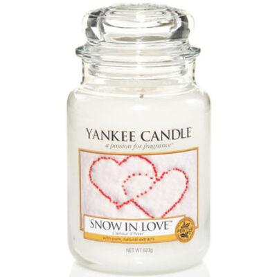 Snow in Love nagy üveggyertya