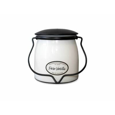 Pure Vanilla Creamery közepes üveggyertya