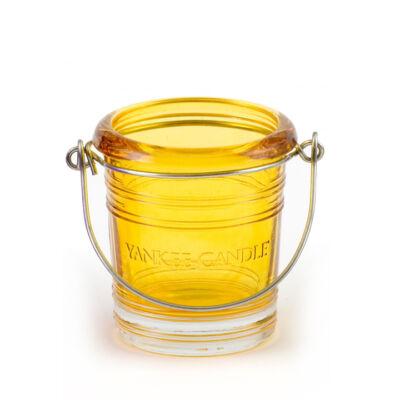 Yellow Bucket mintagyertya tartó