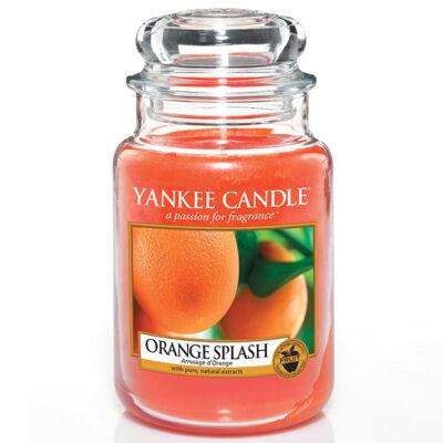 Orange Splash nagy üveggyertya