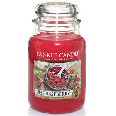 Red Raspberry nagy üveggyertya