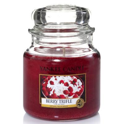 Berry Trifle közepes üveggyertya