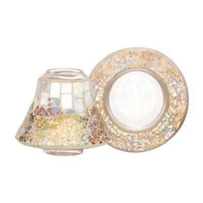 Gold & Pearl Crackle kis búra és tányér