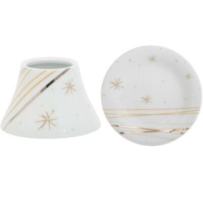 Starry Night Ceramic kis búra és tányér