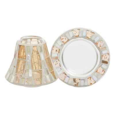 Gold Wave Mosaic kis búra és tányér
