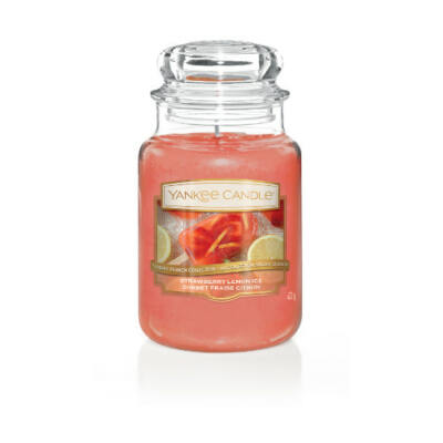 Strawberry Lemon Ice nagy üveggyertya
