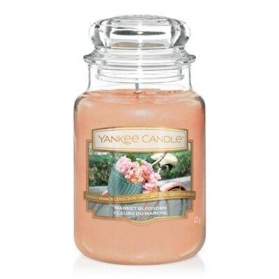 Market Blossoms nagy üveggyertya