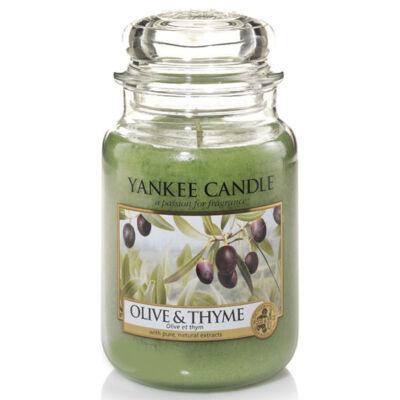 Olive & Thyme nagy üveggyertya