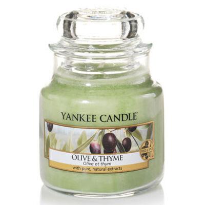 Olive & Thyme kis üveggyertya