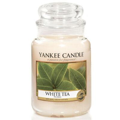 White Tea nagy üveggyertya