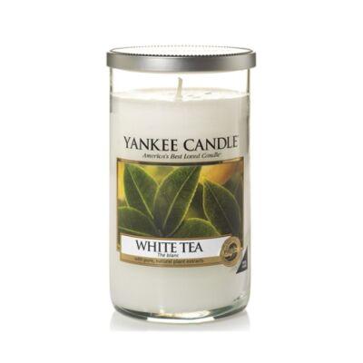 White Tea közepes dekorgyertya