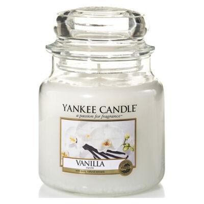 Vanilla közepes üveggyertya