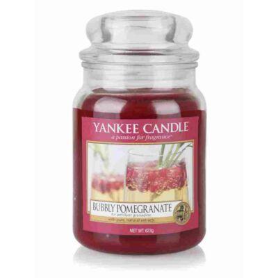 Bubbly Pomegranate nagy üveggyertya
