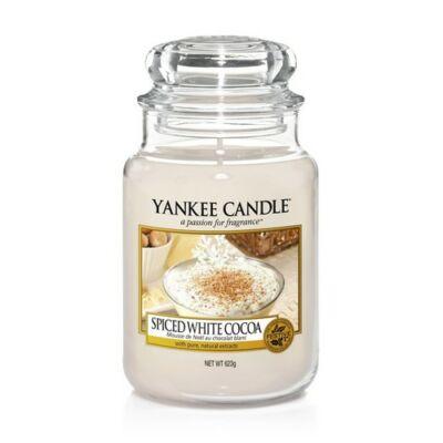 Spiced White Cocoa nagy üveggyertya