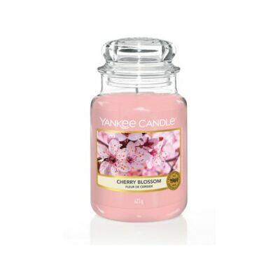 Cherry Blossom nagy üveggyertya
