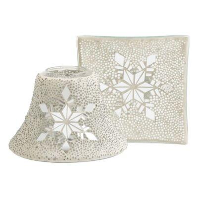 Twinkling Snowflake nagy búra és tányér