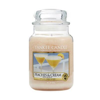 Peaches & Cream nagy üveggyertya
