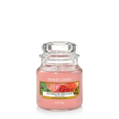 Sun-drenched Apricot Rose kis üveggyertya