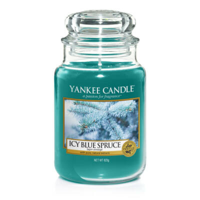 Icy Blue Spruce nagy üveggyertya