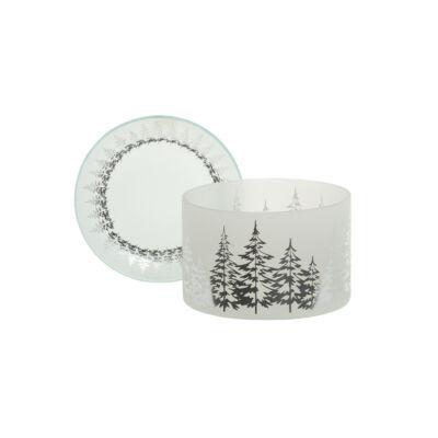 Winter Trees nagy búra és tányér