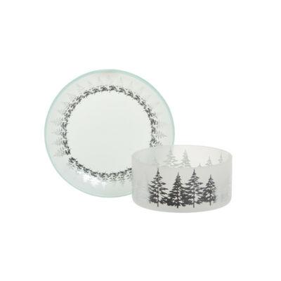 Winter Trees kis búra és tányér