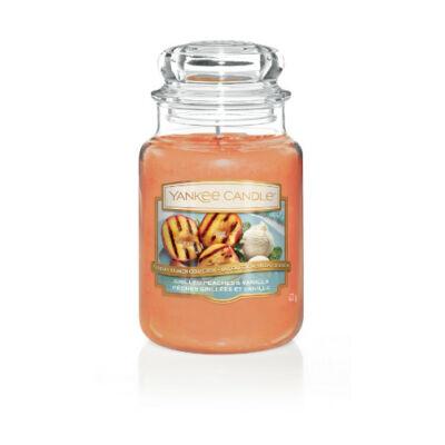 Grilled Peaches & Vanilla nagy üveggyertya