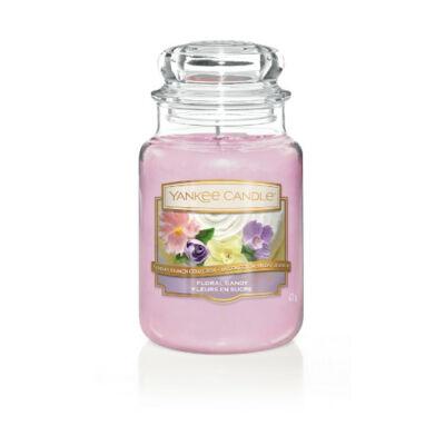 Floral Candy nagy üveggyertya