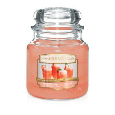 White Strawberry Bellini közepes üveggyertya