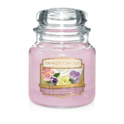 Floral Candy közepes üveggyertya