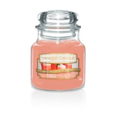 White Strawberry Bellini kis üveggyertya