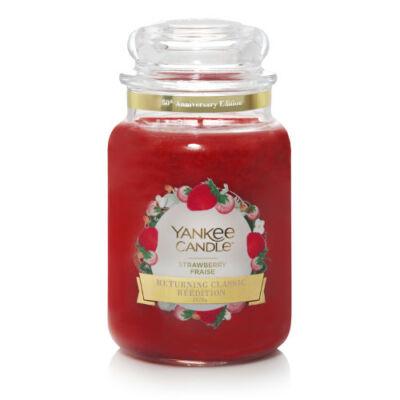 Strawberry nagy üveggyertya