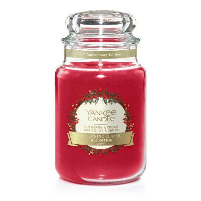 Red Berry & Cedar nagy üveggyertya