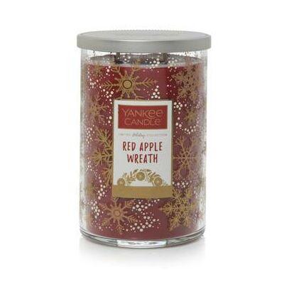 Red Apple Wreath duplakanócos gyertya