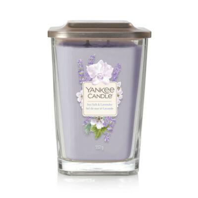 Sea Salt & Lavender nagy üveggyertya