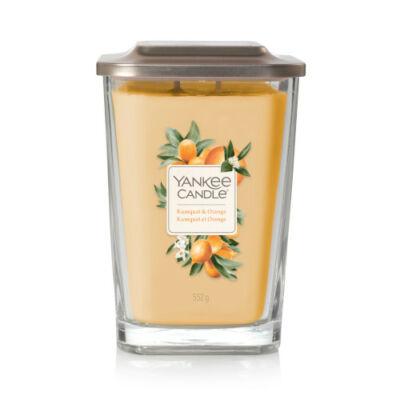 Kumquat & Orange nagy üveggyertya