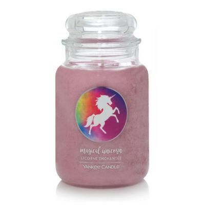 Magical Unicorn nagy üveggyertya