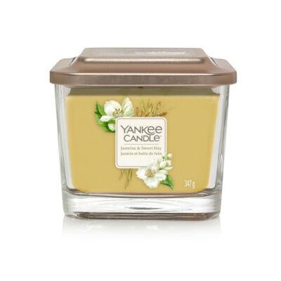 Jasmine & Sweet Hay közepes üveggyertya