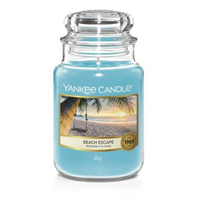 Beach Escape nagy üveggyertya