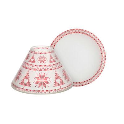 Red Nordic Frosted nagy búra és tányér