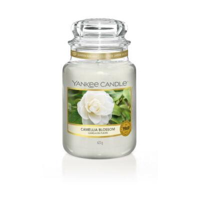 Camellia Blossom nagy üveggyertya