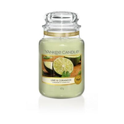 Lime & Coriander nagy üveggyertya