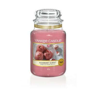 Roseberry Sorbet nagy üveggyertya
